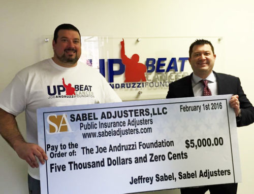 Sabel Adjusters Joins Andruzzi Foundation's Champions Circle as Team Captain!